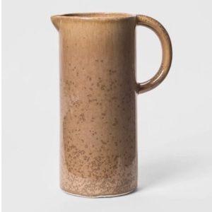 NEW Threshold Tan Ceramic Decorative Pitcher